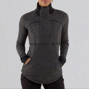 +Lululemon Base runner half zip herringbone Jacket